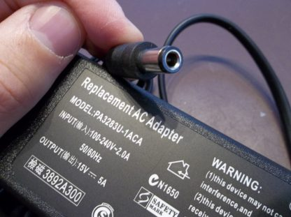 toshiba 15v 5a 75 watts power supply adapter charger
