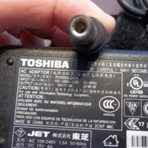 15v 4a toshiba satellite ac dc power adapter supply charger 60watt power supply  3mm by 6.3mm outer diameter